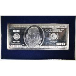 4-OUNCE .999 SILVER $100.00 REPLICA IN CASE