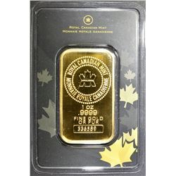 1-OUNCE .9999 GOLD BAR, ROYAL CANADIAN MINT