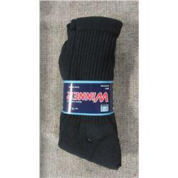 NEW - BLACK SOCKS (3 PAIR) - PER BUNDLE