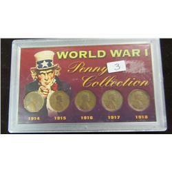 USA WORLD WAR I PENNY COLLECTION