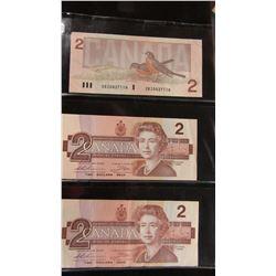 1986 LAST OF BANK OF CANADA $2 BILLS