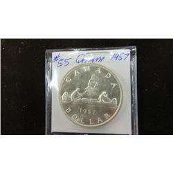 1957 CANADA SILVER DOLLAR