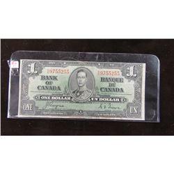 1937 CANADA KING GEORGE VI $1 BILL