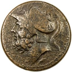 BRETTIAN LEAGUE: ca. 215-205 BC, AE sextans (14.79g). VF