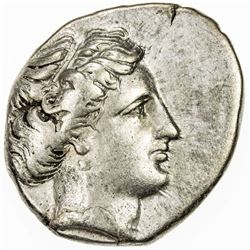 LUCANIA: Anonymous, ca. 400-340 BC, AR nomos (7.76g), Metapontion. VF