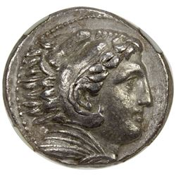 MACEDONIA: Alexander III, the Great, 336-323 BC, AR tetradrachm, Amphipolis. NGC EF
