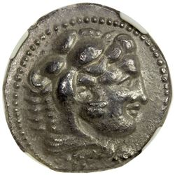 MACEDONIA: Alexander III, the Great, 336-323 BC, AR tetradrachm. NGC EF