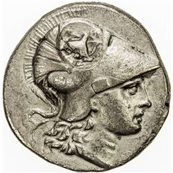 PAMPHYLIA: Anonymous, ca. 205-100 BC, AR tetradrachm (15.66g), Side. F-VF