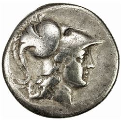 PAMPHYLIA: Anonymous, ca. 205-100 BC, AR tetradrachm (15.92g), Side. F