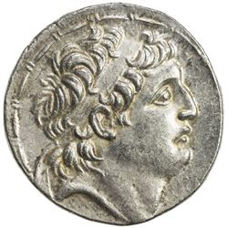 SELEUKID KINGDOM: Antiochos VII Euergetes, 138-129 BC, AR tetradrachm (16.70g), ND. EF