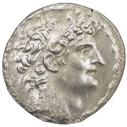 SELEUKID KINGDOM: Antiochos VIII Grypos, 121-96 BC, AR tetradrachm (16.06g), ND. VF