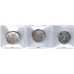 SELEUKID KINGDOM: LOT of 3 silver tetradrachms