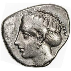 THESSALY: Anonymous, ca. 360-350 BC, AR drachm (6.04g), Larissa. VF