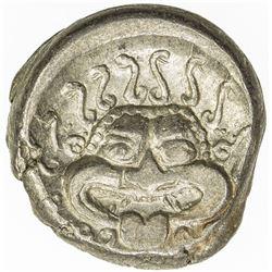 THRACE: Anonymous, ca. 400-350 BC, AR diobol (3.51g), Apollonia Pontika. EF