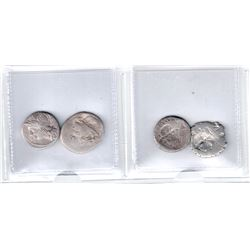 ROMAN REPUBLIC: LOT of 4 brockages of the Roman Republic