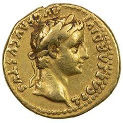 ROMAN EMPIRE: Tiberius, 14-37 AD, AV aureus (7.62g), Lugdunum (Lyon, France), ND (after 16). F-VF