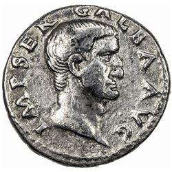 ROMAN EMPIRE: Galba, 68-69 AD, AR denarius (3.13g). F