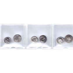 ROMAN EMPIRE: LOT of 6 silver denarii