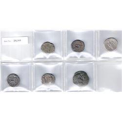 ROMAN EMPIRE: LOT of 4 billon tetradrachms of Nero from Alexandria Egypt, plus 2 miscellaneous piece