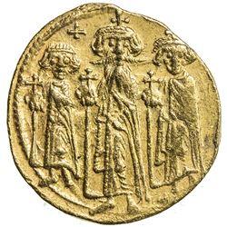 BYZANTINE EMPIRE: Heraclius, 610-641, AV solidus (4.47g), Constantinople. VF