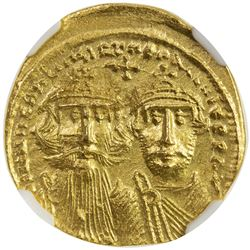 BYZANTINE EMPIRE: Heraclius, 610-641, AV solidus, Constantinople. AU