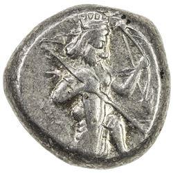 ACHAIMENIDIAN EMPIRE: Anonymous, 5th/4th century BC, AR siglos (5.57g). EF