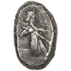ACHAIMENIDIAN EMPIRE: Anonymous, ca. 420-375 BC, AR siglos (5.48g). VF