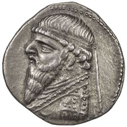 PARTHIAN KINGDOM: Mithradates II, 95-87 BC, AR drachm (4.01g). EF