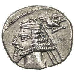 PARTHIAN KINGDOM: Phraates IV, c. 38-2 BC, AR drachm (3.74g), Ekbatana (Hamadan). EF
