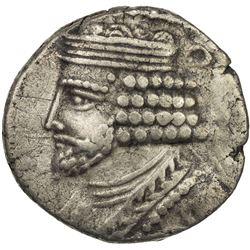 PARTHIAN KINGDOM: Vardanes I, 40-45, AR tetradrachm (14.17g), Seleukeia, SE356 (44/45 AD). VF