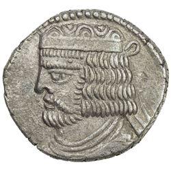PARTHIAN KINGDOM: Vardanes II, AD 55-58, BI tetradrachm (14.34g), Seleukeia, SE367 (57/58 AD). EF
