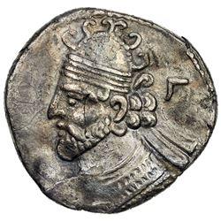 PARTHIAN KINGDOM: Vologases II, AD 77-80, BI tetradrachm (13.70g), Seleukeia, SE390 (78/79 AD). VF