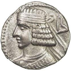 PARTHIAN KINGDOM: Pakoros II, AD 78-105, BI tetradrachm (14.40g), Seleukeia, SE389 (77/78 AD). VF-EF