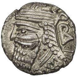 PARTHIAN KINGDOM: Vologases IV, 147-191 AD, BI tetradrachm (12.91g), Seleukeia, SE497 (185/86 AD). E