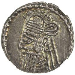 PARTHIAN KINGDOM: Vologases IV, 147-191, AR drachm, Ekbatana. NGC EF