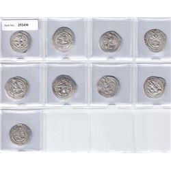 SASANIAN KINGDOM: LOT of 9 silver drachms