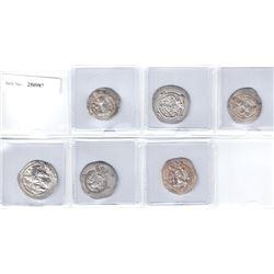 SASANIAN KINGDOM: LOT of 6 silver drachms