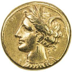 CARTHAGE: Anonymous, ca. 350-320 BC, AV stater (7.57g), Zeugitania. VF