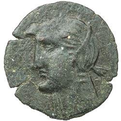 MAURETANIA: Anonymous, late 3rd/2nd century BC, AE 24mm (4.76g). F-VF