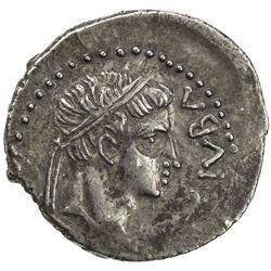 MAURETANIA: Juba II, 25 BC - 23 AD, AR denarius (2.93g). VF-EF
