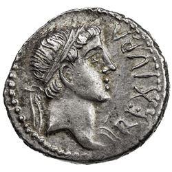 MAURETANIA: Juba II, 25 BC - 23 AD, AR denarius (3.00g). VF-EF