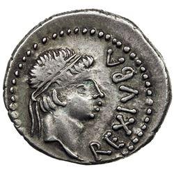 MAURETANIA: Juba II, 25 BC - 23 AD, AR denarius (2.55g). VF-EF