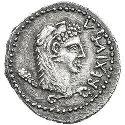 MAURETANIA: Juba II, 25 BC - 23 AD, AR denarius (2.85g). EF