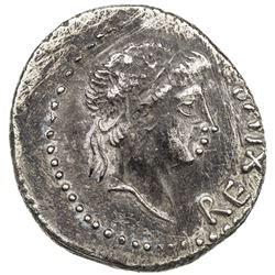 MAURETANIA: Juba II, 25 BC - 23 AD, AR denarius (2.77g). VF-EF