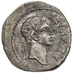 MAURETANIA: Juba II, 25 BC - 23 AD, AR denarius (2.87g). EF