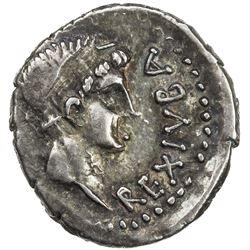 MAURETANIA: Juba II, 25 BC - 23 AD, AR denarius (2.48g). VF