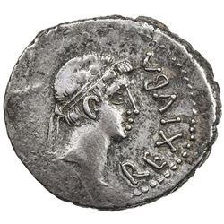 MAURETANIA: Juba II, 25 BC - 23 AD, AR denarius (2.87g). VF