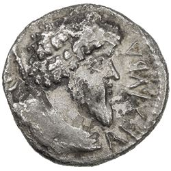 NUMIDIA: Juba I, 60-46 BC, AR denarius (3.31g). VF