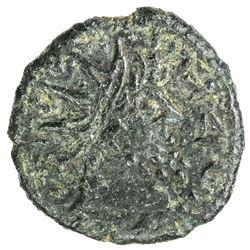 NUMIDIA: Juba I, 60-46 BC, AE 15 (1.73g). F