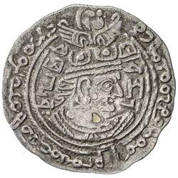 TURK SHAHI KINGS: Vakhu Deva, early 8th century, AR drachm (3.38g). VF-EF